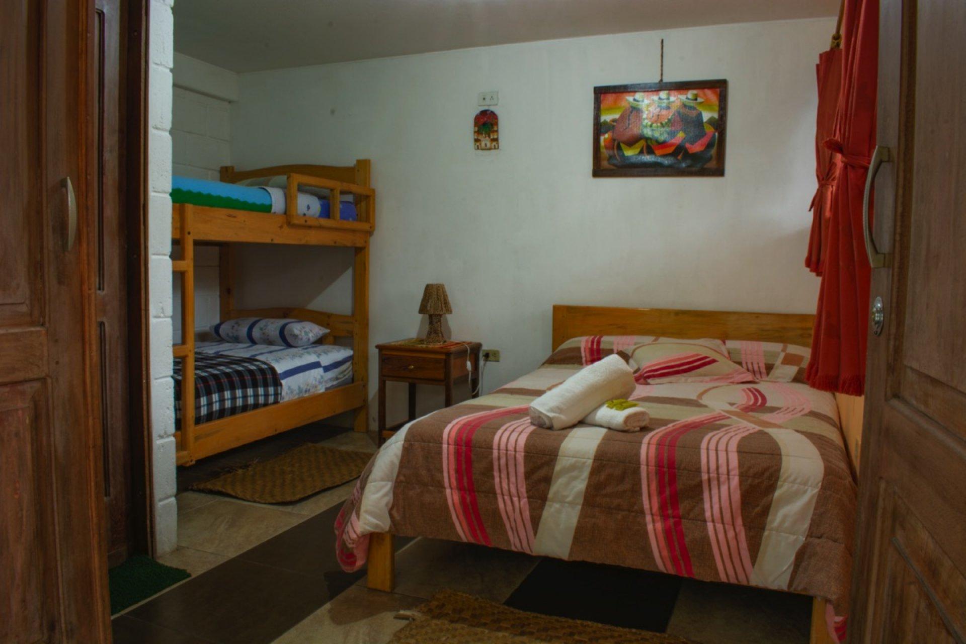Habitación frente al volcán Tungurahua